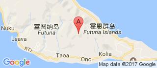 瓦利斯和富图纳群岛的地图