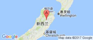 新西兰的地图