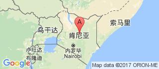 肯尼亚的地图