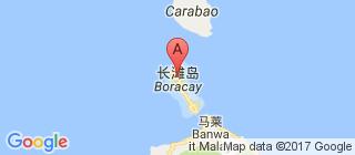 长滩岛的地图