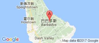巴巴多斯的地图