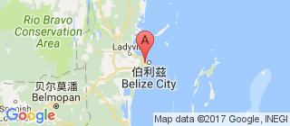 伯利兹的地图