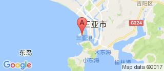 三亚湾的地图