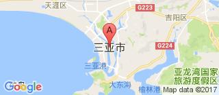 三亚的地图