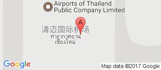 清迈国际机场的地图