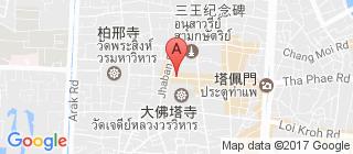 清迈古城的地图