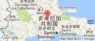 多米尼加的地图