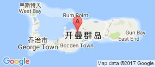 开曼群岛的地图