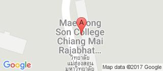 清迈大学的地图