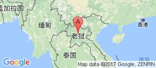 老挝的地图