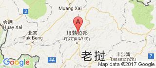 琅勃拉邦的地图