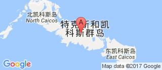 特克斯和凯科斯群岛的地图