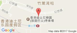 香港迪士尼乐园的地图