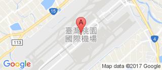 桃园国际机场的地图