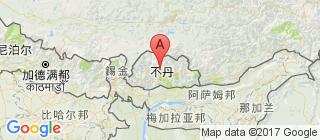 不丹的地图