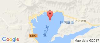 泸沽湖的地图