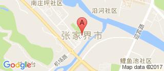 张家界的地图