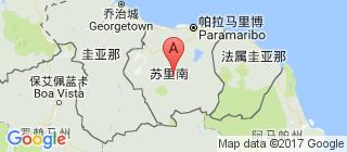 苏里南的地图