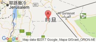约旦的地图