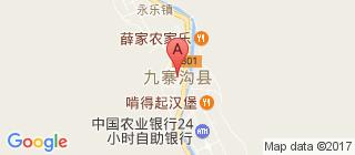 九寨沟的地图
