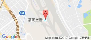 福冈国际机场的地图