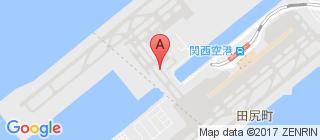关西国际机场的地图