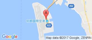 中部国际机场的地图