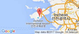 仁川国际机场的地图