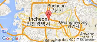 仁川的地图