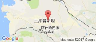 土库曼斯坦的地图
