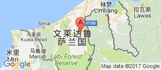 文莱的地图