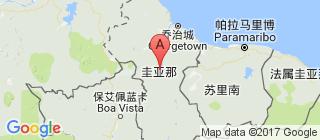 圭亚那的地图