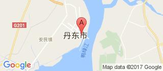 丹东的地图