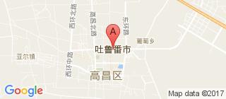 吐鲁番的地图