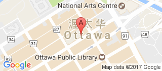渥太华的地图