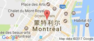 蒙特利尔的地图