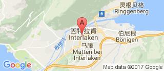 因特拉肯的地图