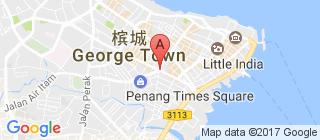槟城的地图