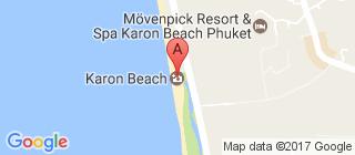 卡伦海滩的地图