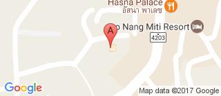 奥南海滩的地图